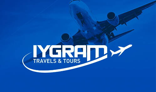 Iygram Travels & Tours identity design and collaterals